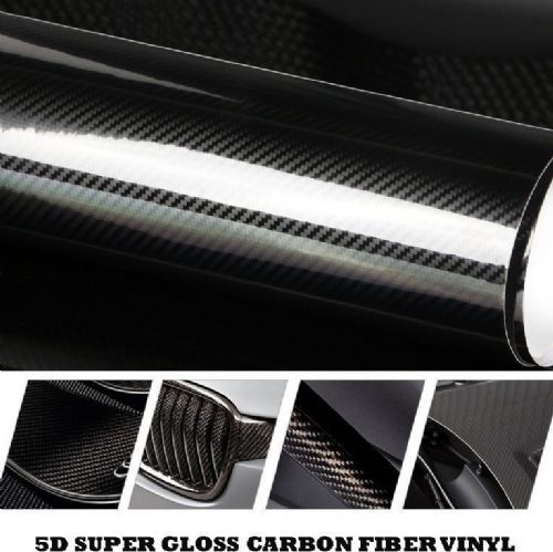 5D CARBON FIBRE VINYL ULTRA HIGH GLOSS 300MM X 1000MM ROLL - TOP QUALITY VINYL